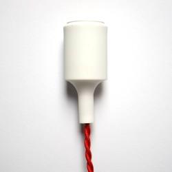 Silikon Lampenfassung (Weiß)