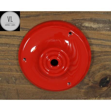 Porzellan Baldachin in Rot