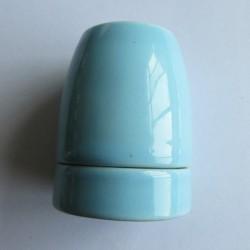 Design Porzellan Lampenfassung (Baby Blau)