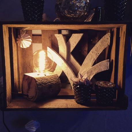 Design Holzlampe Bausmstamlampe aus Mango