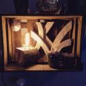 Design Holzlampe Baumstammlampe aus Mango
