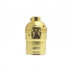 Aluminium Lampenfassung Ohne Schalter Goldfarbig