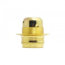 Aluminium Lampenfassung in Messing-Gold