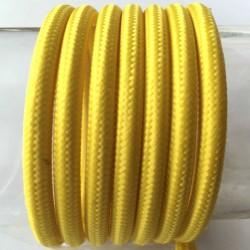 Vintage TextilStromKabel einfach (gelb)