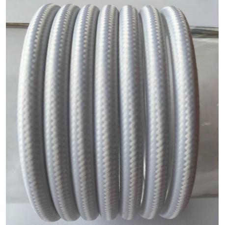 Textilkabel einfach (weiß)