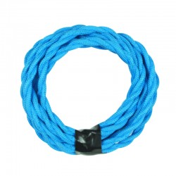 Vintage TextilStromKabel verseilt (blau)