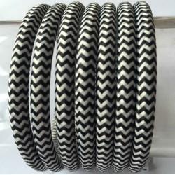 Vintage TextilStromKabel einfach (zebra)