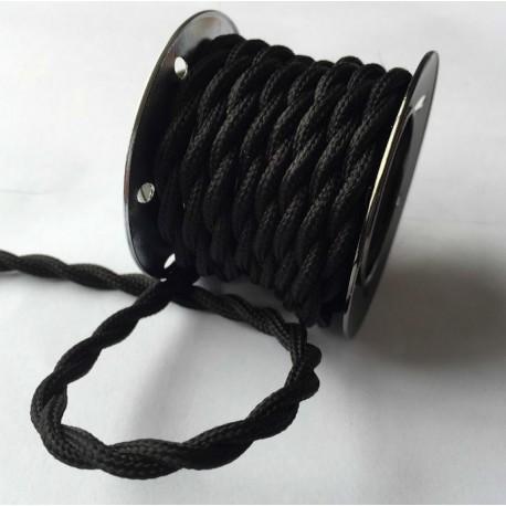 Textilkabel twisted (schwartz)