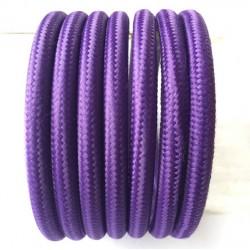 Vintage TextilStromKabel einfach (violette)