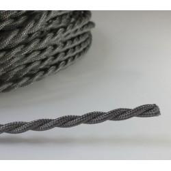 Vintage TextilStromKabel verseilt (Grau)