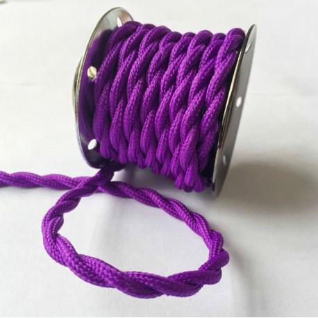 Vintage TextilStromKabel verseilt (Violett)