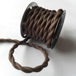 Vintage TextilStromKabel verseilt (Braun)