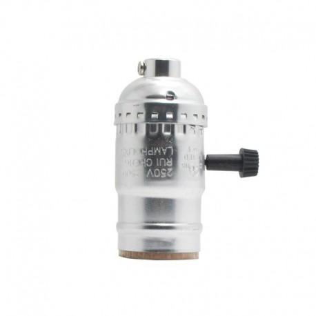 Aluminium Lampenfassung Drehschalter Silber