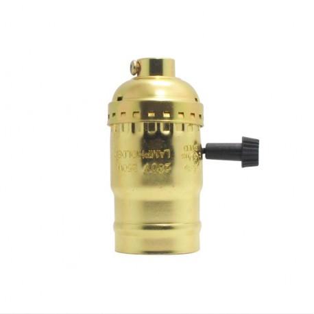 Aluminium Lampenfassung Drehschalter goldfarbig