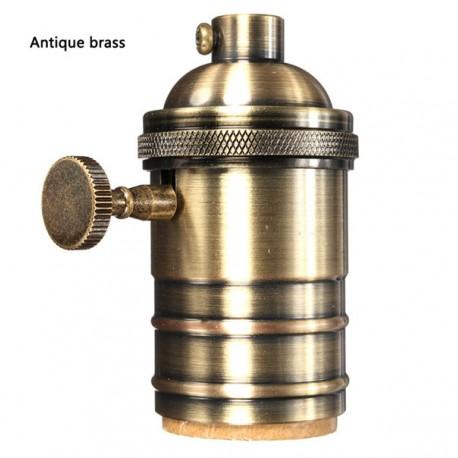 Kupfer E27 Lampenfassung mit drehschalter (Messing)