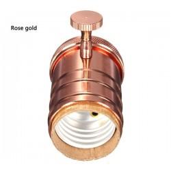 Kupfer E27 Lampenfassung mit drehschalter (Rose Gold)
