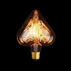 Design Vintage Glühbirne VL18 Herz (Gerader Glühfaden)