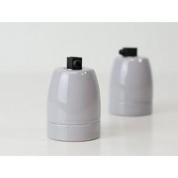 Design Porzellan Lampenfassung (Grau)
